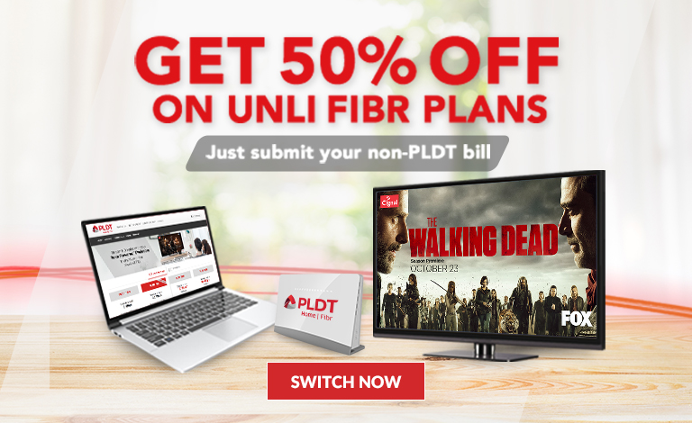 Click Here To Learn More About PLDT HOME Fibr