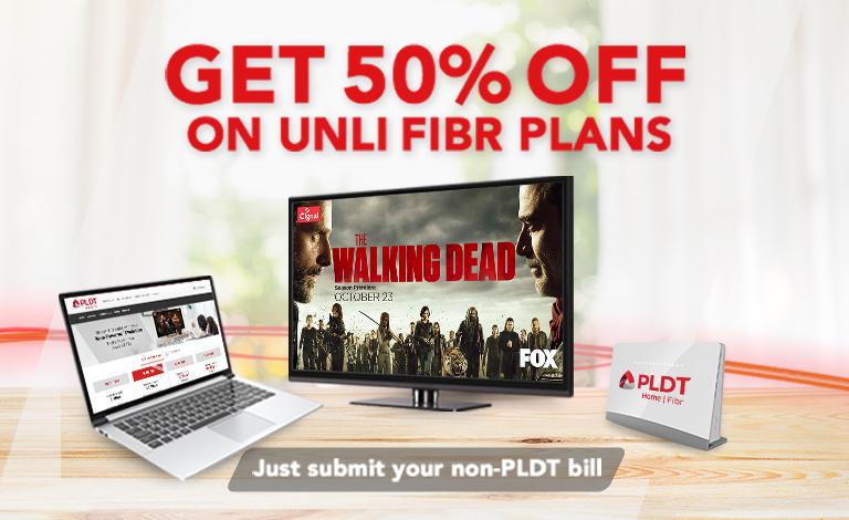 Get 50% OFF On Unli Fibr Plans!