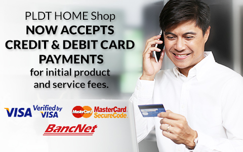 PLDT now accepts Debit/Credit payments
