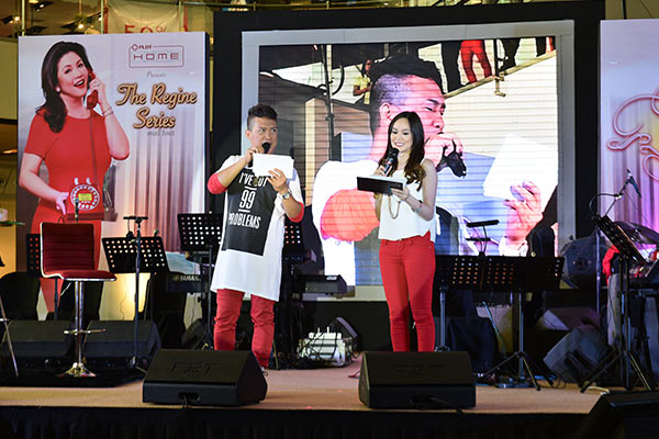 The Regine Series Mall Tour was hosted by Joel O and DJ Pam of Wave 89.1.