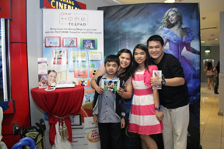 Subscribers and their families also enjoy a Disney-filled day with PLDT HOME Telpad.