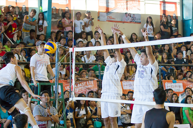Team Bagwis during the exhibition game versus the men's team of General Trias, Cavite