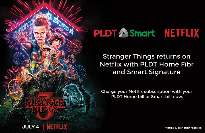 Smart turns Manila upside down on July 4 with the launch of Stranger Things latest season