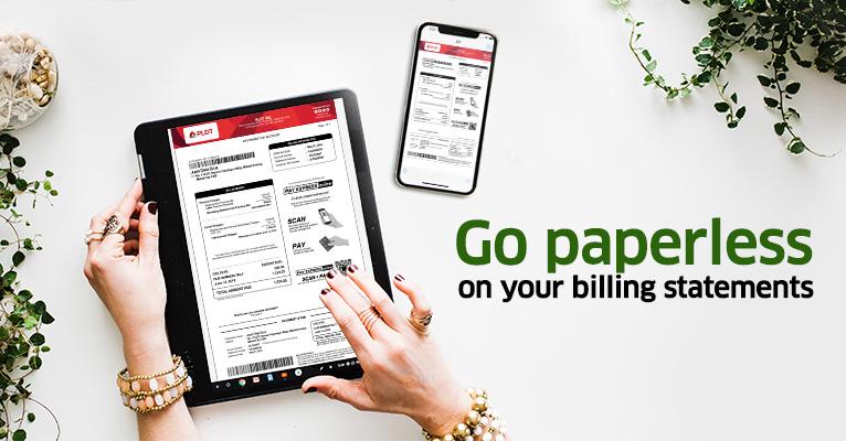Paperless billing | PLDT HOME